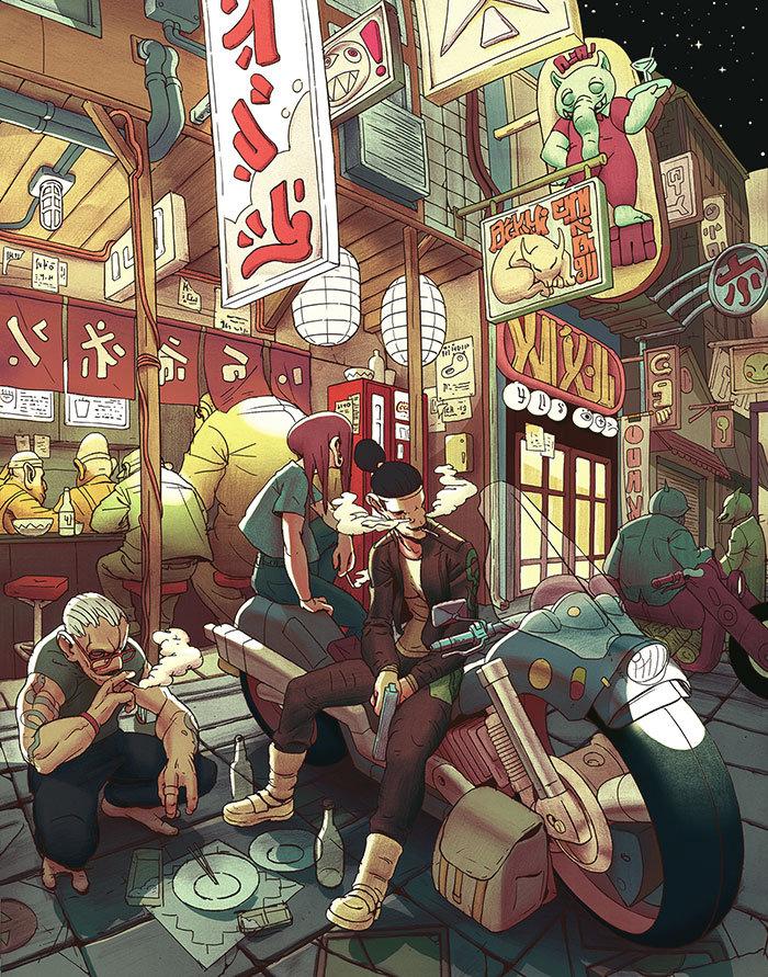 The Unique Digital Illustration Portfolio of Kevin Hong