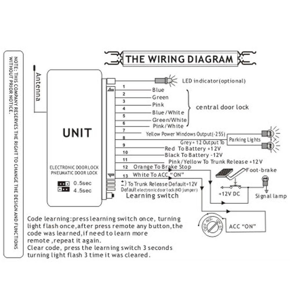 universal car alarm systems auto remote central kit door lock  s l1600(9)