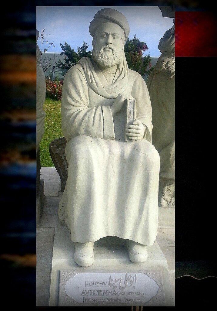 Статуя Авиценны в составе Павильона персидских учёных перед офисом ООН в Вене, Австрия. Фото из интернета, фрагмент.jpg
