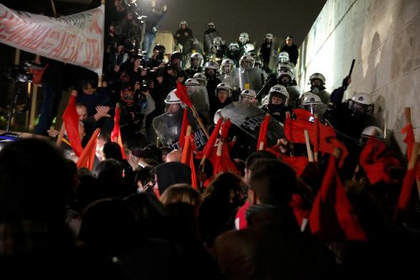 Протесты 15.01.2018 в Афинах