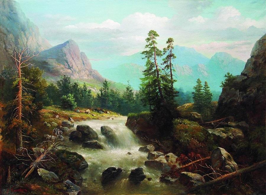 Горный пейзаж с рекой