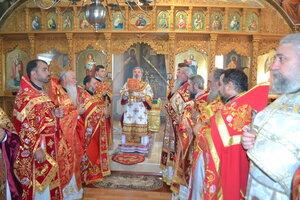 Liturghia arhierească din satul Pruteni
