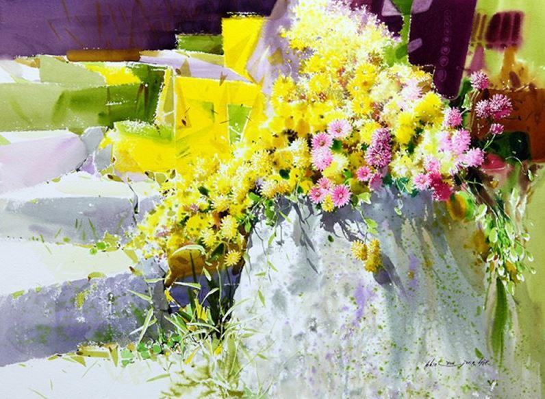 Корейский-акварелист-Shin-Jong-Sik.-Цветы-акварелью.-Шестые.jpg