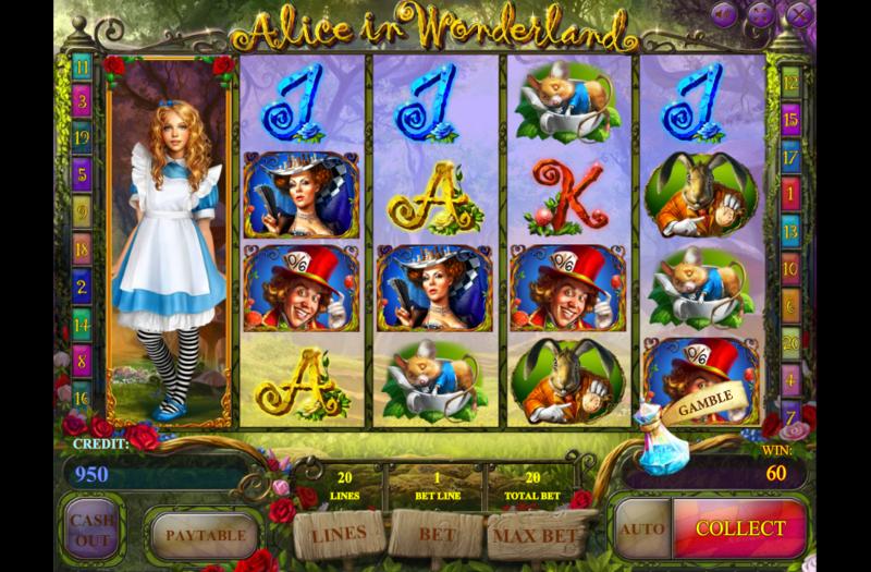 Alice In Wonderland играть на доллары онлайн в новый игровой автомат