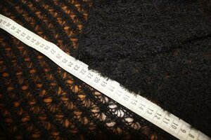 ТР449 остаток 3,0м   690руб-м Вязаный трикотаж,цвет черный,трикотаж приятный,мягкий,легкий,ажурный,прозрачный,пластичный,для кофт,кардиганов,платьев,снудов,шарфов,шир.2,0м,шерсть 20%,пэ 80%.JPG