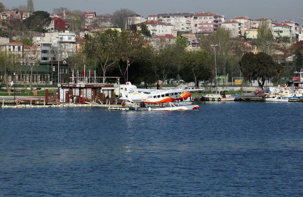 Istanbul. On the ferry across the Golden horn Bay. Eminönü-Ayvansaray