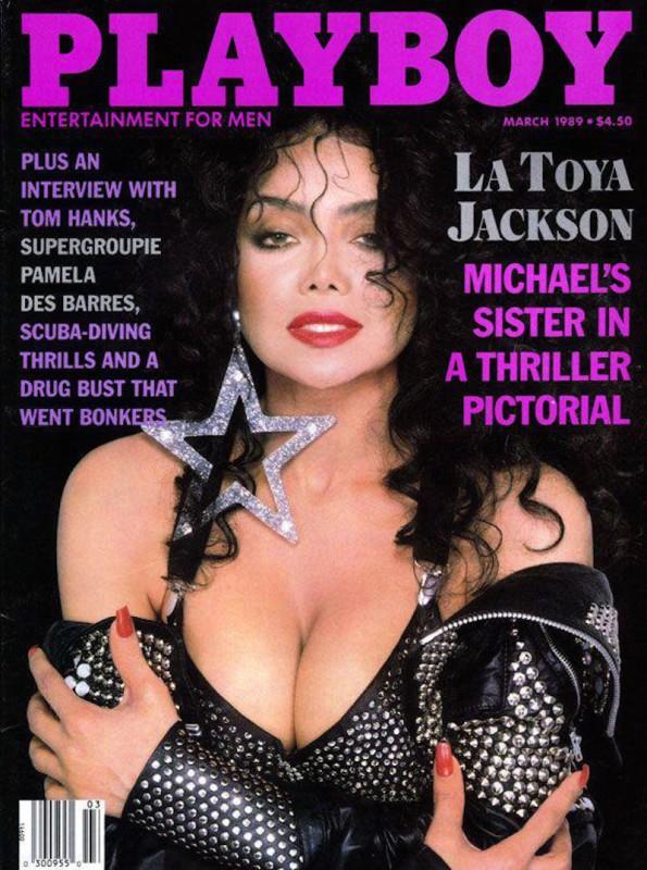 1989 год.   Ла Тойя Джексон побывала на обложке Playboy 24 раза в 15 странах, в том числе дважд
