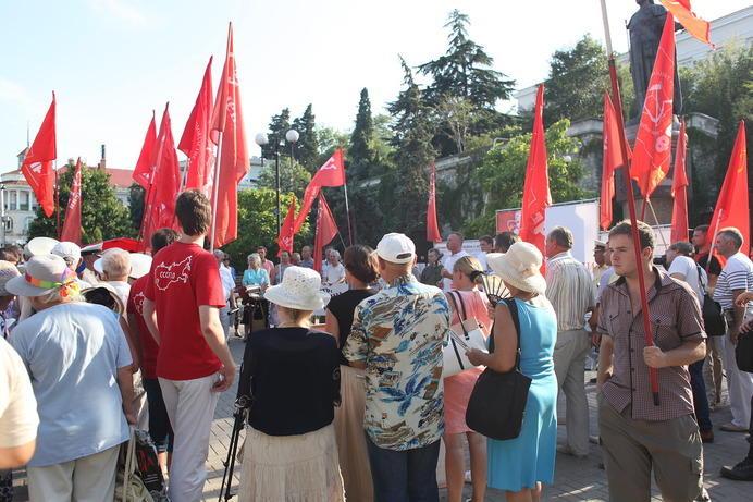 В разгар митинга было около 150 человек, и автор там был в этот момент, раз цитирует выступавших-pic2