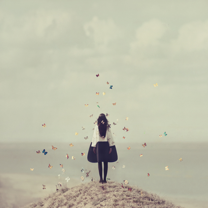 Kiev-based photographer Oleg Oprisco ( previously ) continues to amaze with his surreal style of con