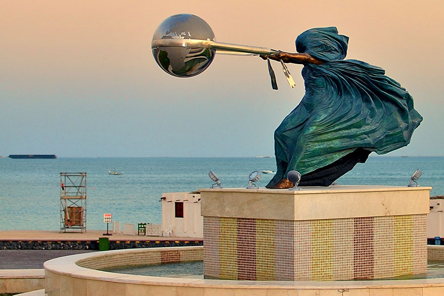 The Force of Nature: A Series of Sculptures That Depict Mother Nature Hurling Planet Earth in Circles