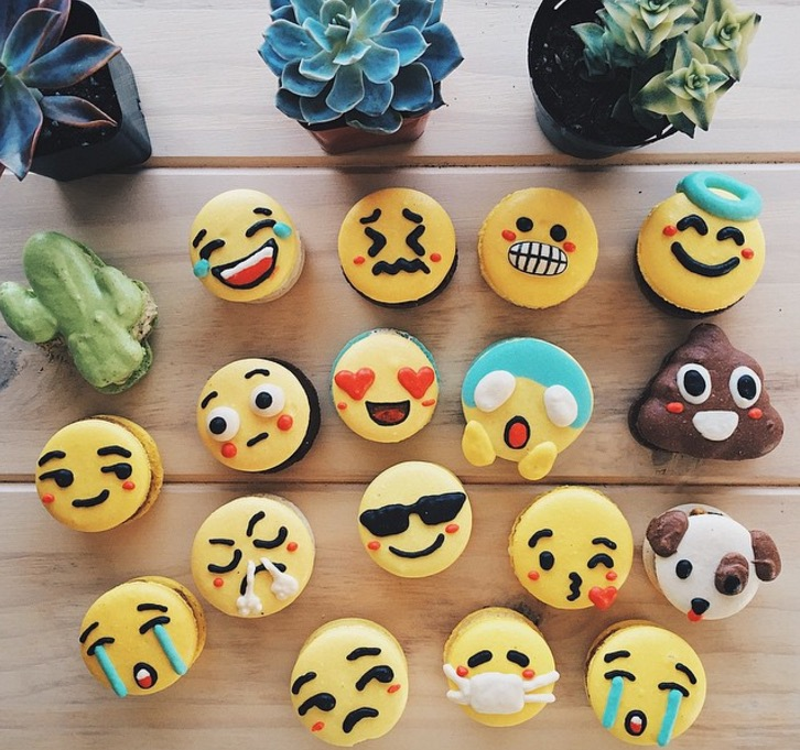 Cute Macarons inspired by Emojis and Studio Ghibli Characters