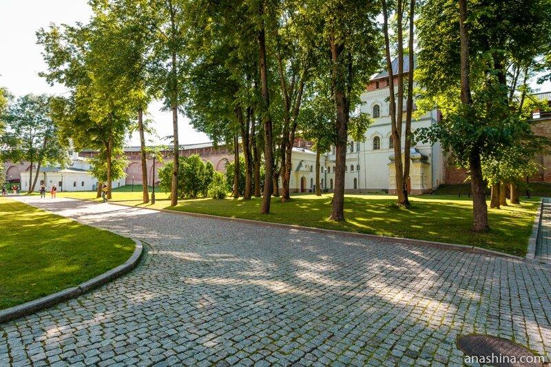 На территории Новгородского кремля