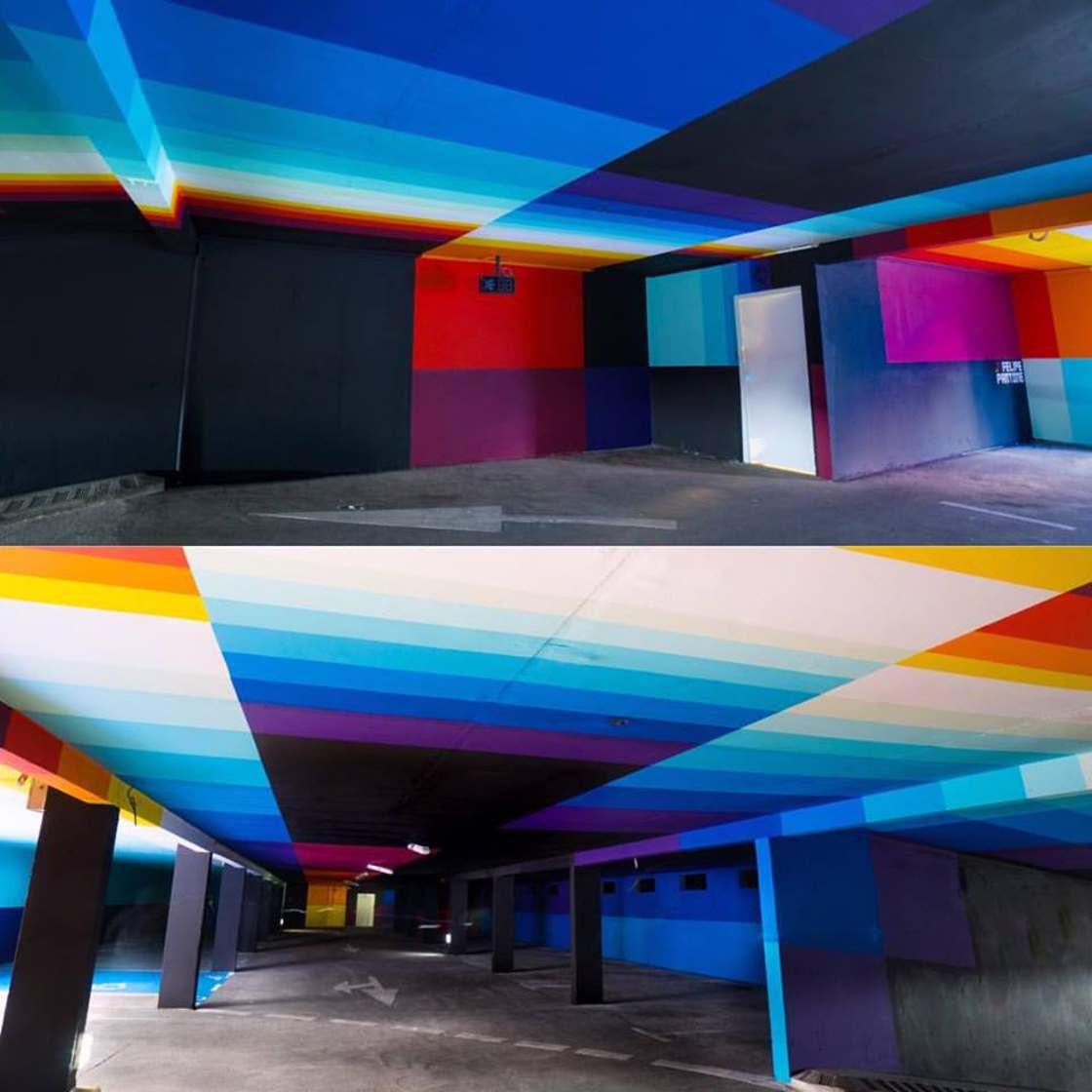 2KM3 - A car park transformed into a gigantic street art museum