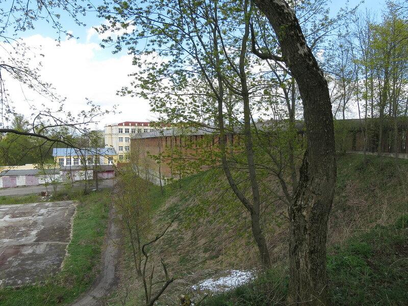 Фрагмент стены от Королевского бастиона до разрушенной башни Гуркина