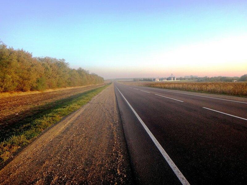 В дороге... Общее направление - Дом родной  ... 12. Фото из велокольца. Ахтари-Староминская-Бейсугский пролив (78).JPG