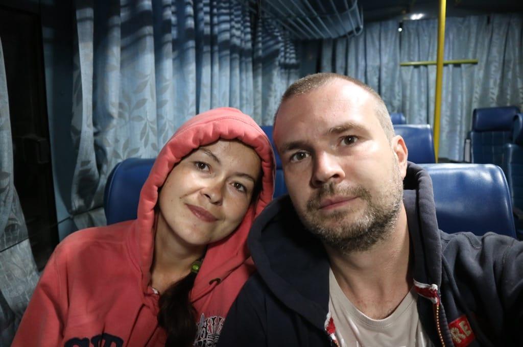Собственно мы в автобусе повышенной комфортности, из комфорта присутствуют зановесочки