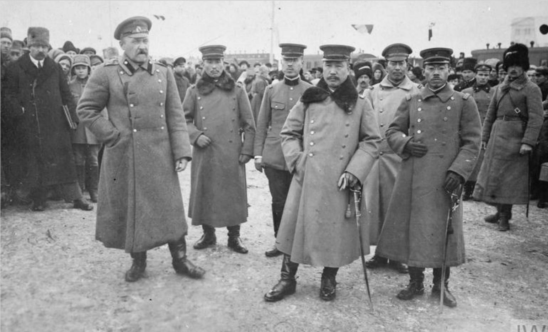 1919. Офицеры японской военной миссии в Омске