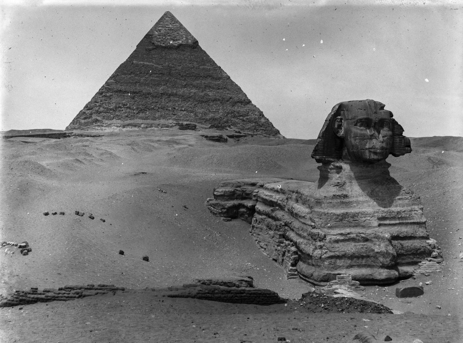 Гиза. Сфинкс и пирамида Хефрена