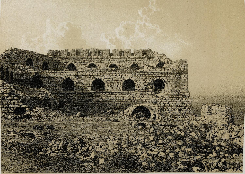 63. Эль-Карак. Внутренний вид южного угла крепости