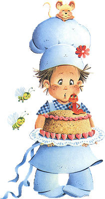 Поваренок с тортом открытки фото рисунки картинки поздравления