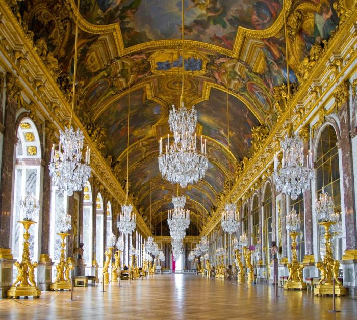 Зеркальная галерея. Версаль.