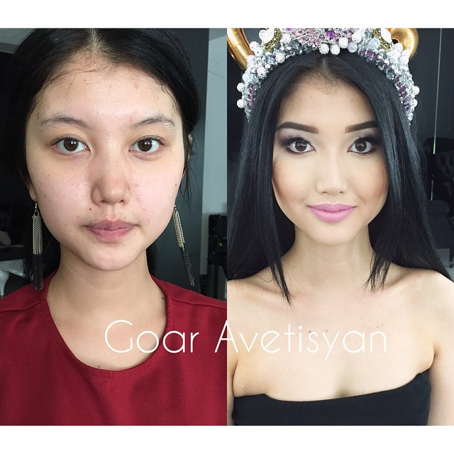 Ужасающая реальность: Девушки до и после макияжа