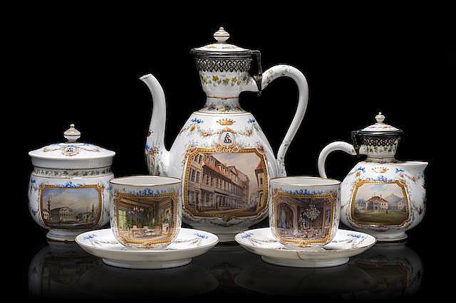 Чайный сервиз императора Александра I.    Фрукты на императорском столе в зимний сезон были дов