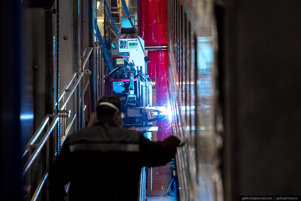 завод поезда производство