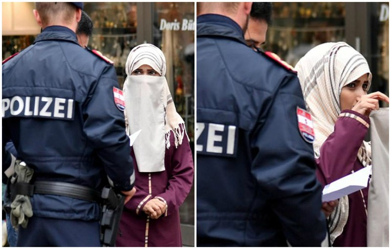 В Австрии запретили носить мусульманские одеяния и закрывать лицо