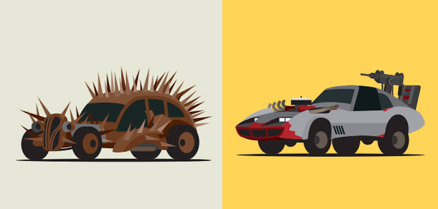 Illustrations of the Vehicles of Mad Max Fury Road (12 pics)