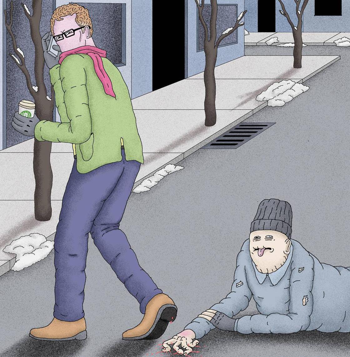 Les illustrations sombres et satiriques d'Alex Gamsu Jenkins