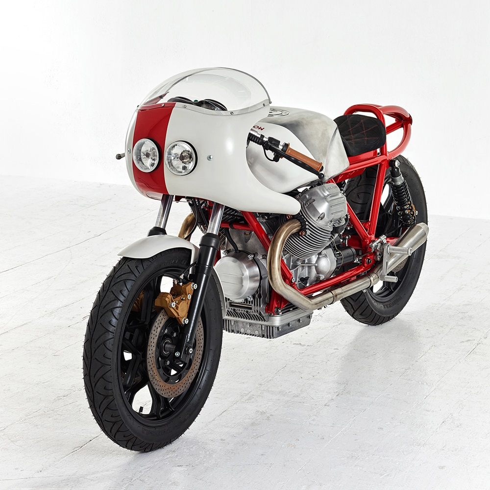 Death Machines Of London: кафе рейсер Moto Guzzi Le Mans