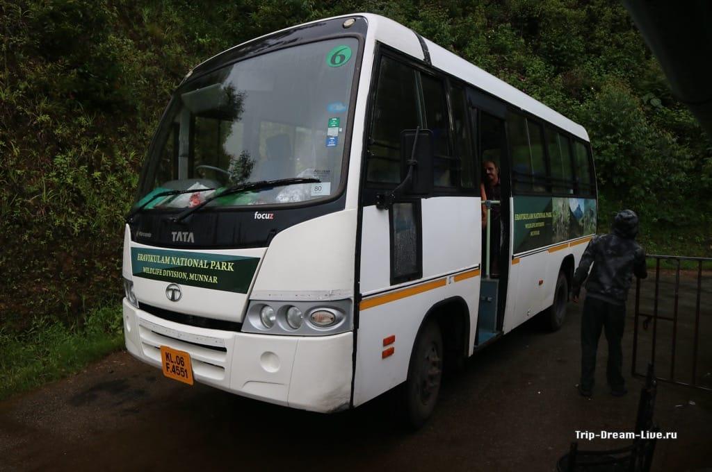 Автобус, который отвезет вас к парку