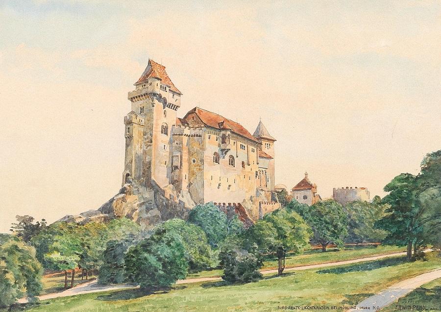 Liechtenstein castle near Mödling towards northeast