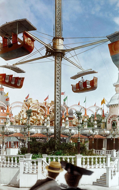 1904. Аттракцион в Луна-парке Кони-Айленда