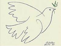 на иллюстрации вариант 1961 годаПабло ПикассоГолубка Пикассо. 1949фр. La Colombe, исп. La Palomaрисунок, литография