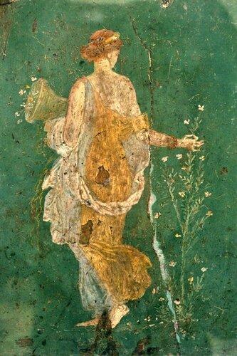 Флора (Весна) или Диана. Фрагмент фрески из Стабий. 1 в. до н.э.