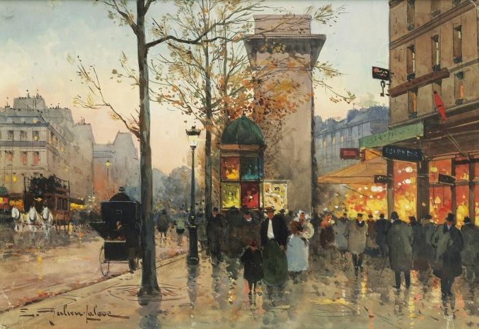 Париж / художник Эжен Галье-Лалу - Eugène Galien-Laloue