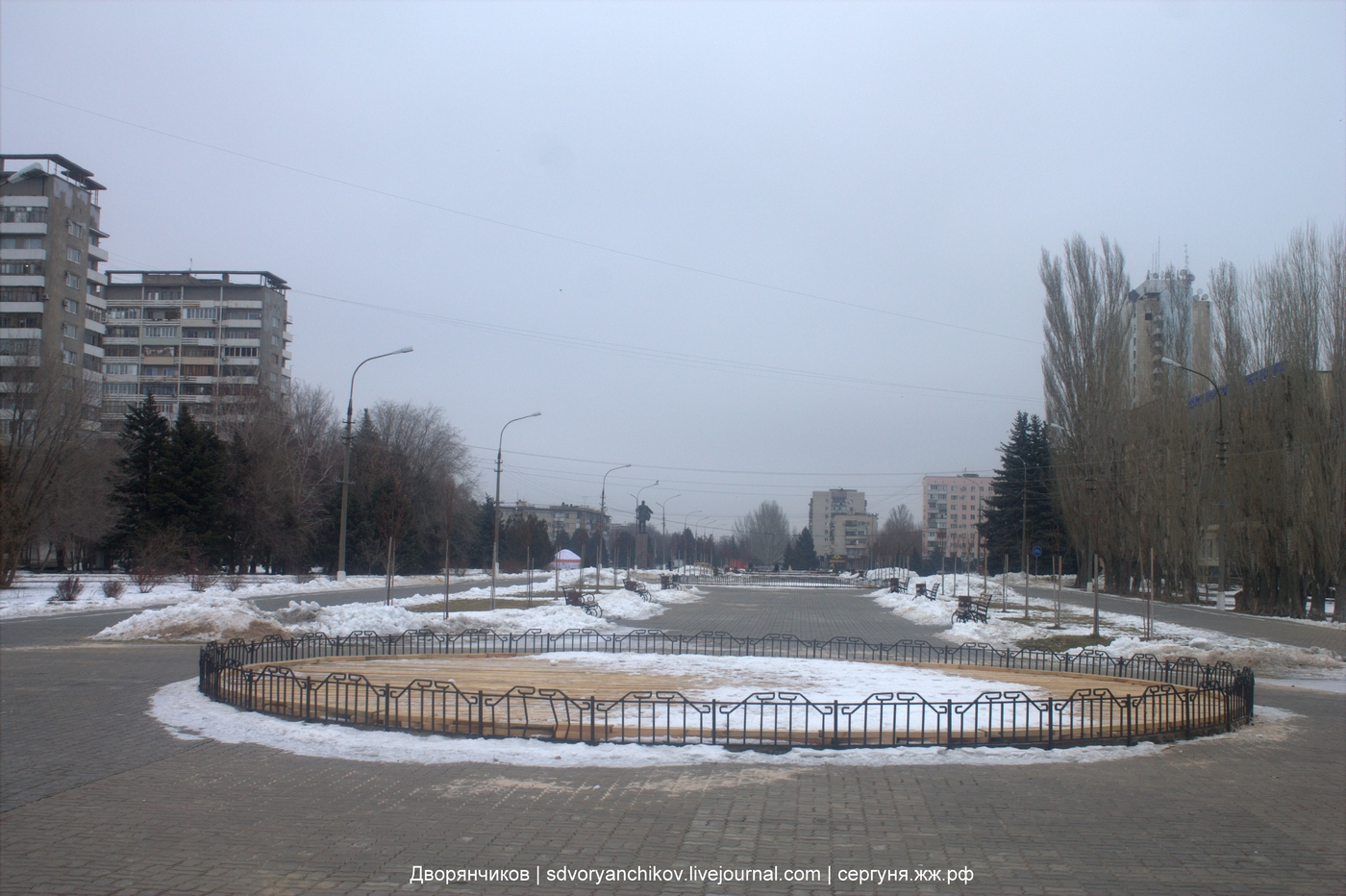 Парк Волжский - периметр 08-02-2018