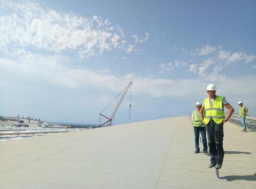 Строители завершили монтаж кровли нового терминала аэропорта «Симферополь»