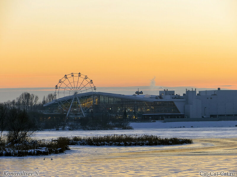 Зимний закат на Свияге