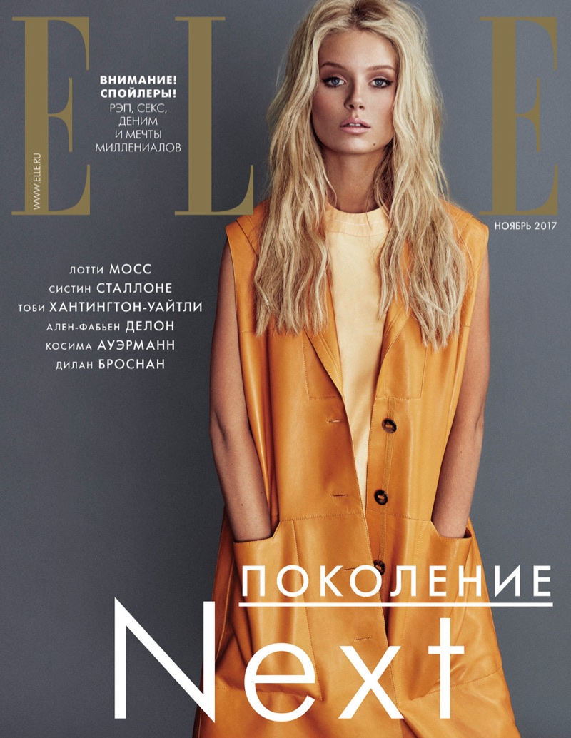 Лотти Мосс в ELLE Russia