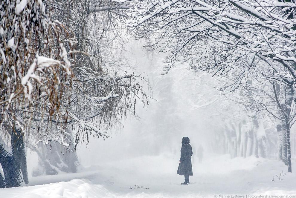 Снежная Москва