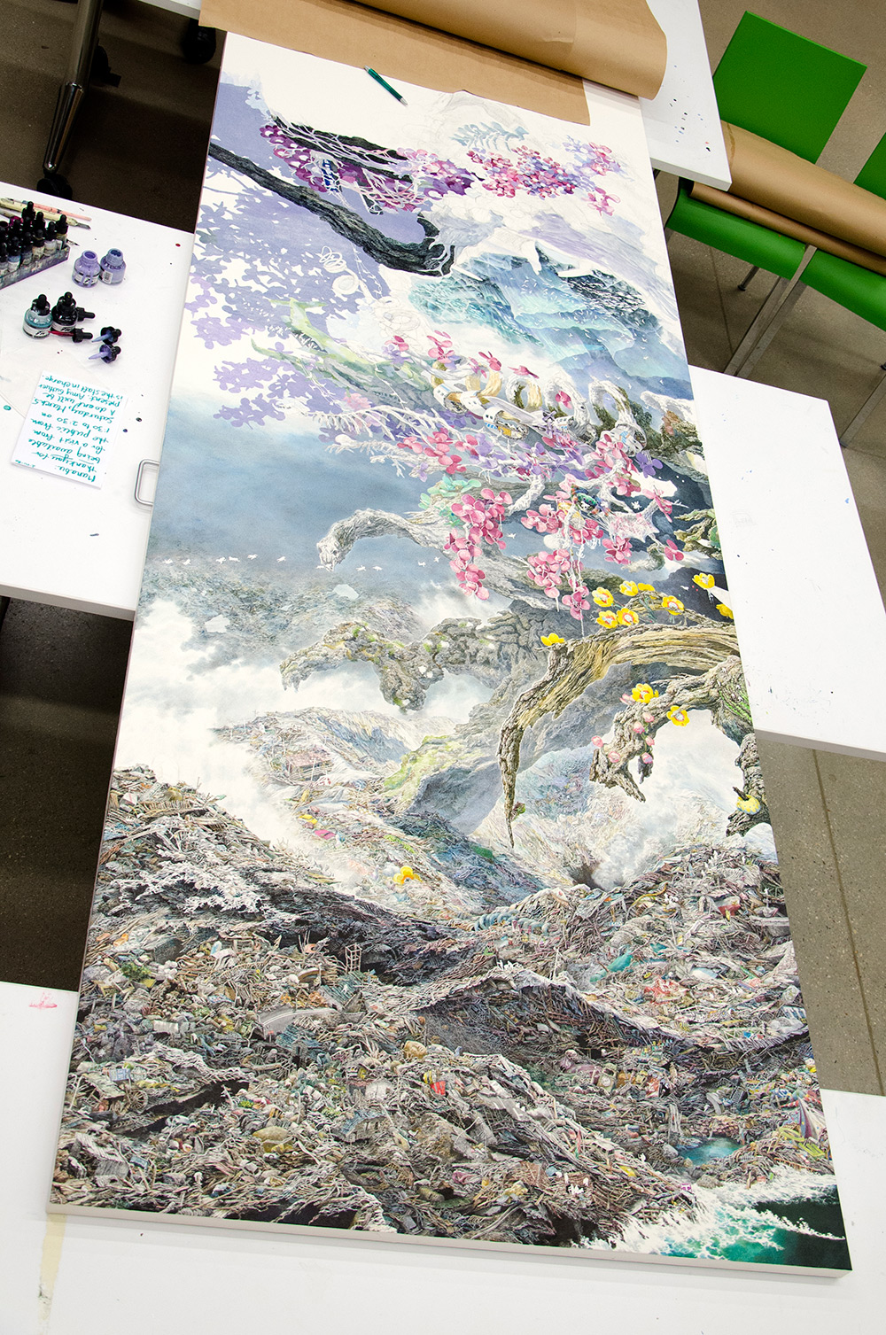 Rebirth in progress. Ikeda's time spent in Madison wasn't without its own adversity. The artist disl