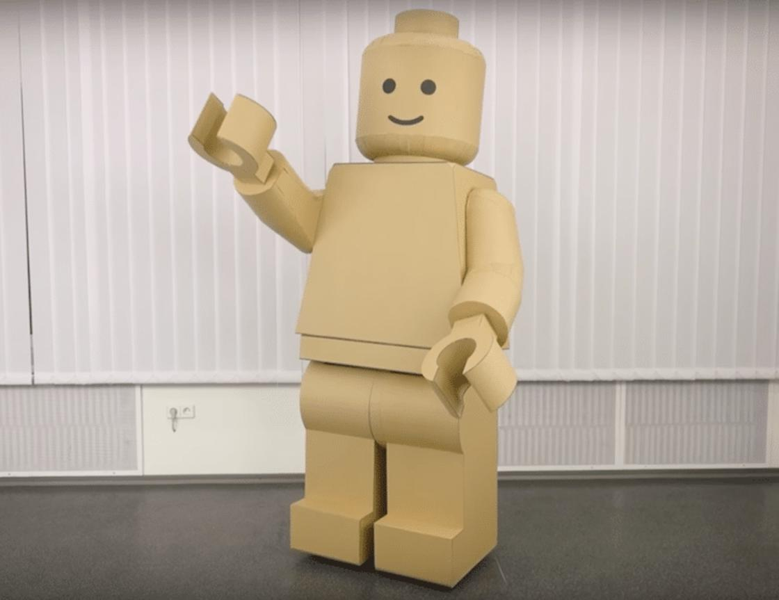 How to make a LEGO Minifig costume for Halloween