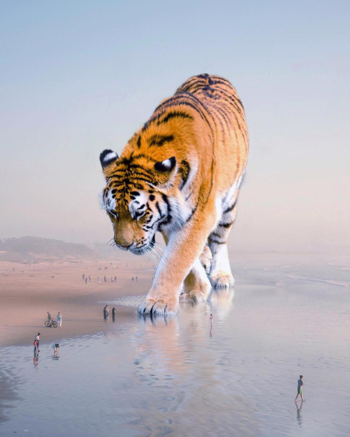 This artist imagines a world populated by gigantic animals