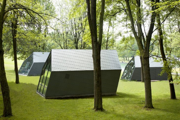 Atelier Urban Face design Kiosks in Mount Royal Park