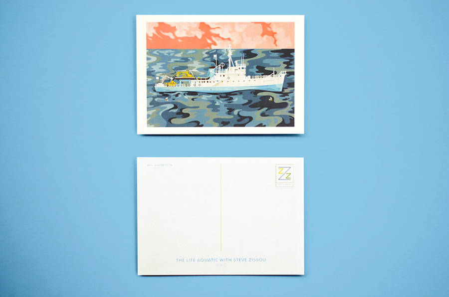 Postcards and Stamps Inspired by Wes Anderson