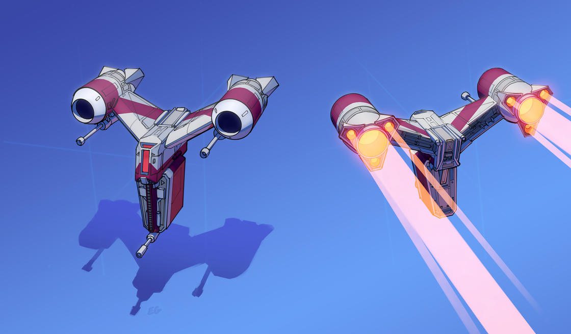 This illustrator transforms everyday objects into futuristic spaceships