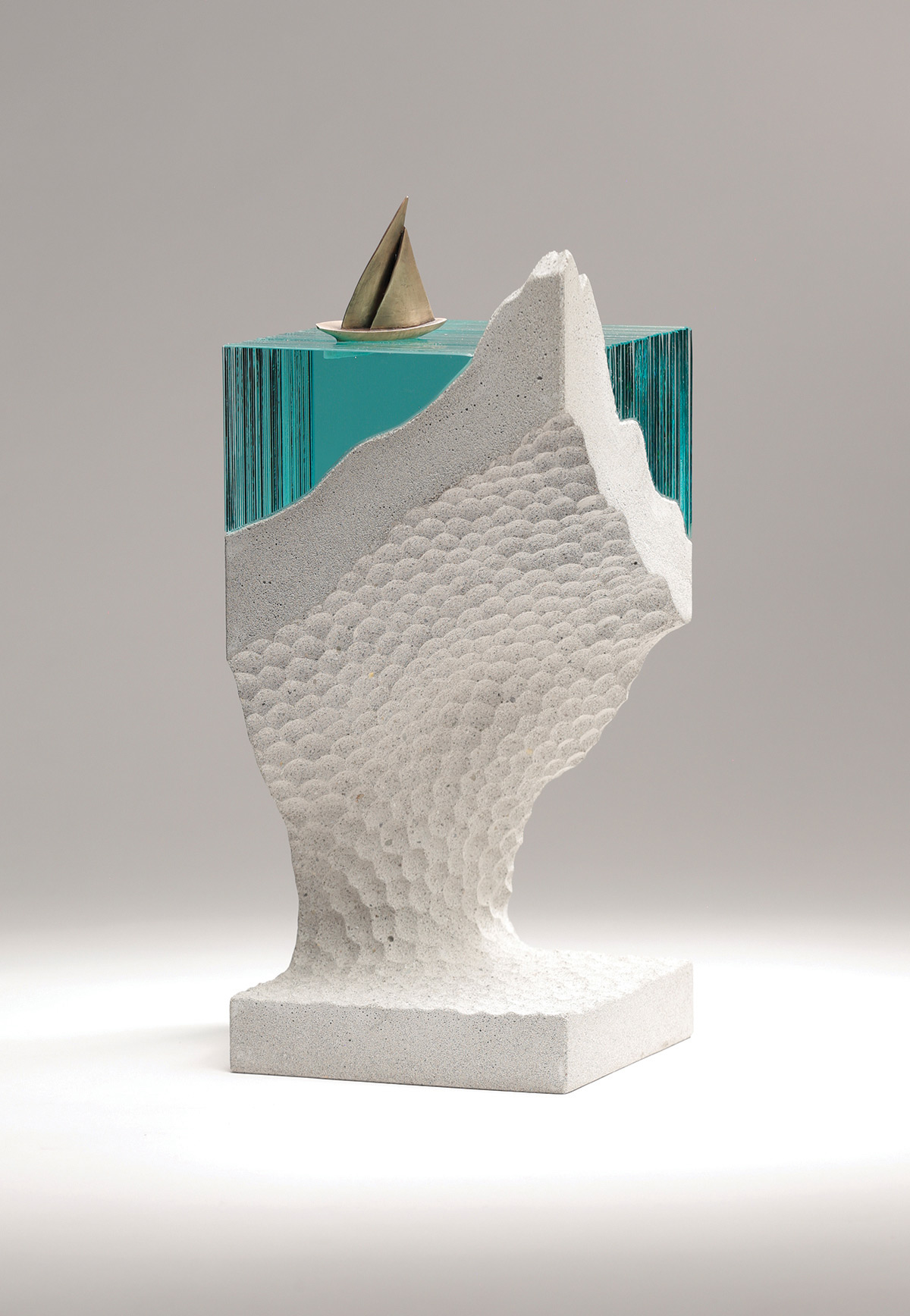New Sculptures by Ben Young Transform Hand-Cut Glass into Aquatic Landscapes